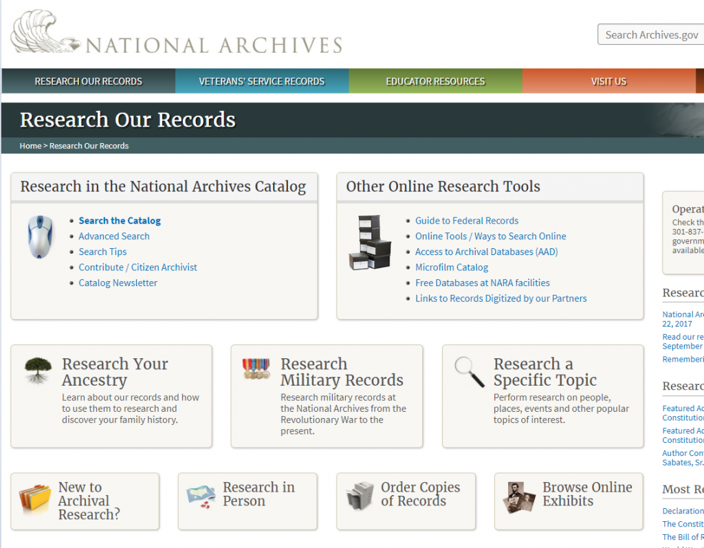 Archives public records