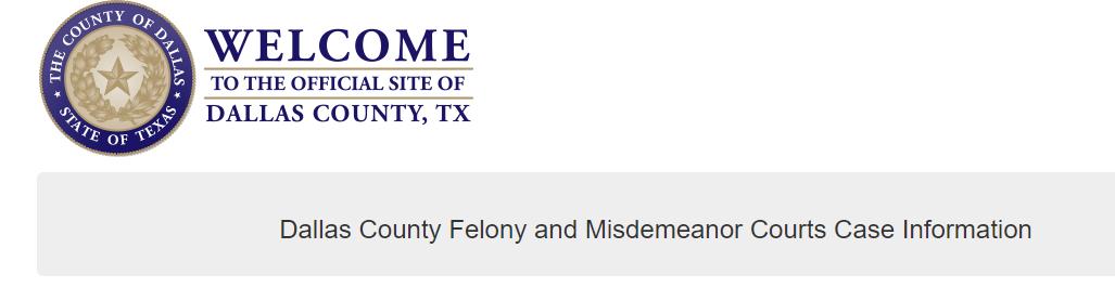 Dallas County Criminal Records Search