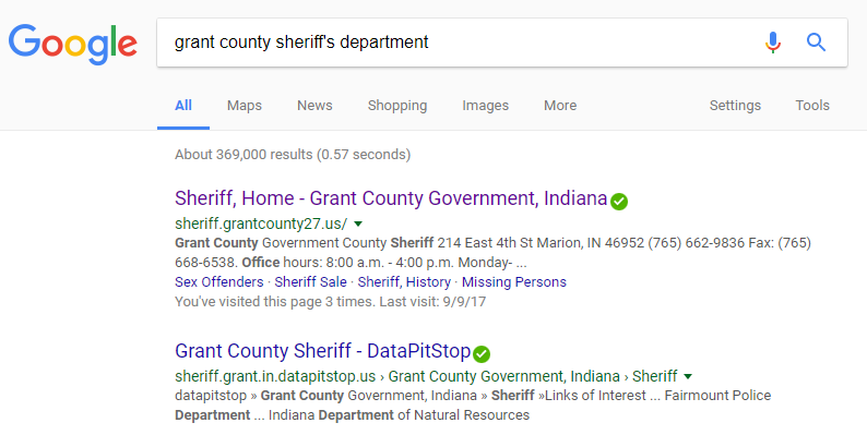 grant county inmate search