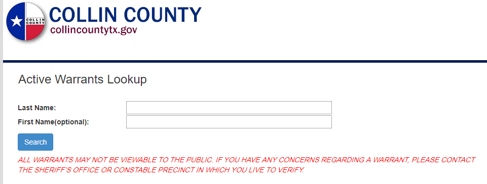 Lovely Collin County Warrants