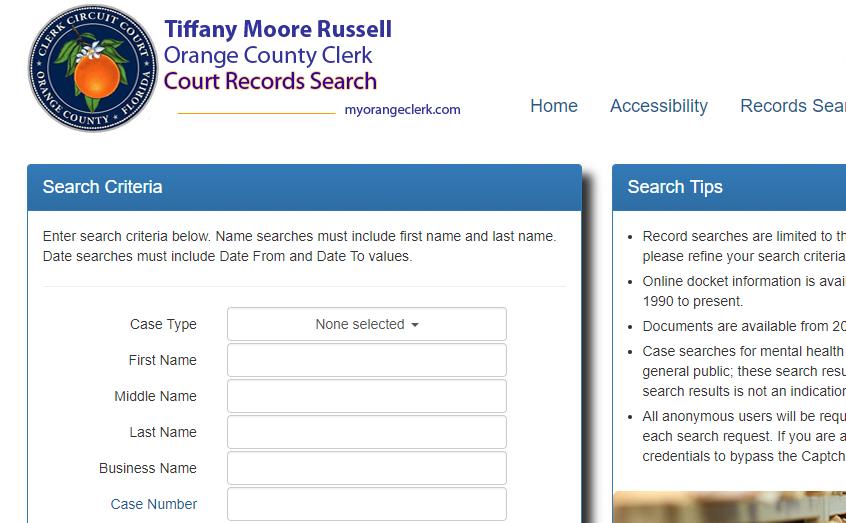 Orange County Arrest Records
