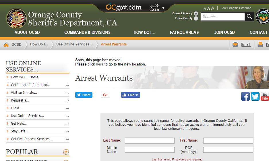 Orange County Warrants