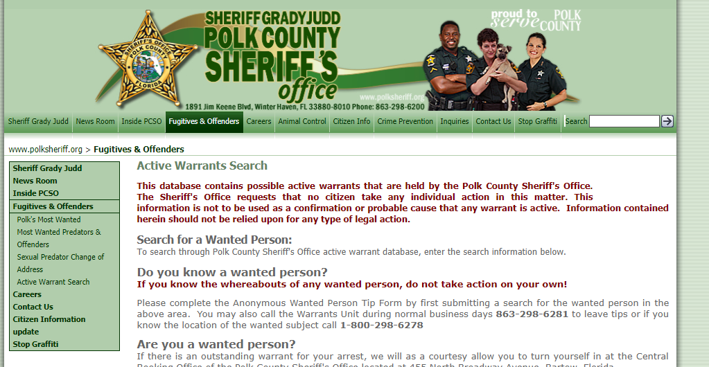 Polk County Warrants