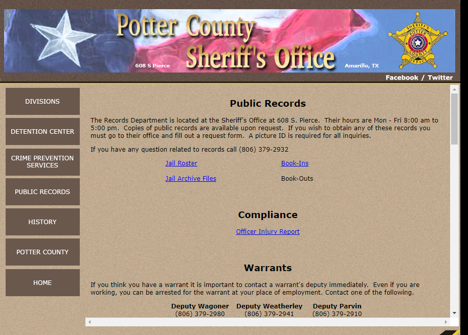 Potter County Warrants