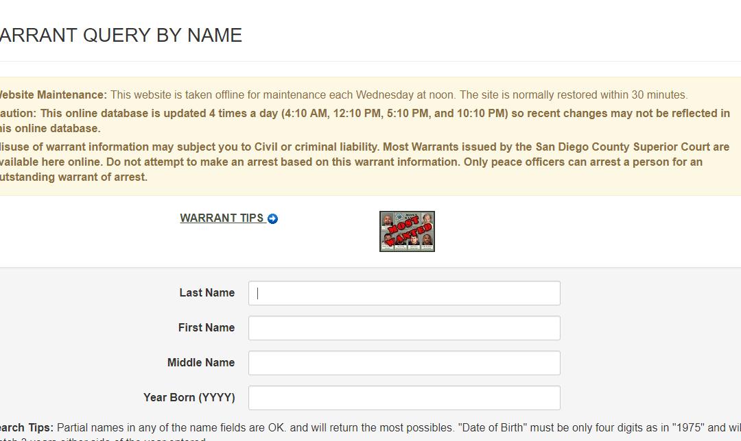 San Diego Warrants