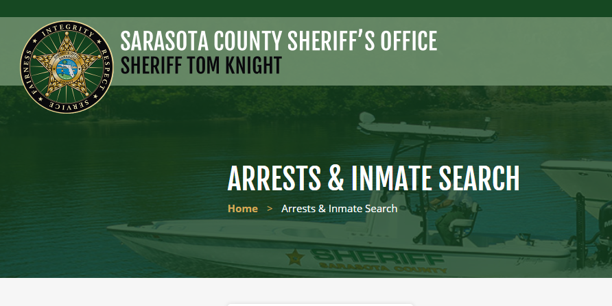 Sarasota County Arrest Records
