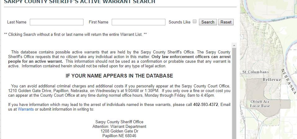 Sarpy County Warrants