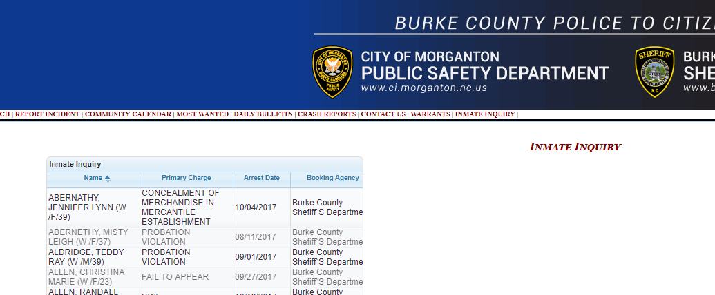 Who's in Jail Burke County