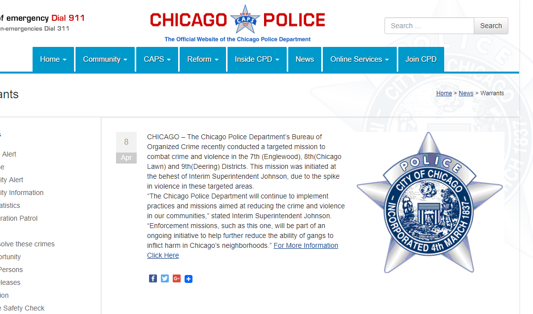 Cook County Warrant Search