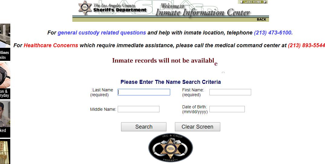 Los Angeles Arrest Records