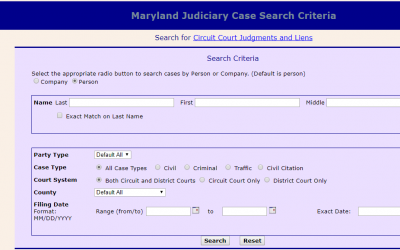 Maryland Judiciary Case Search