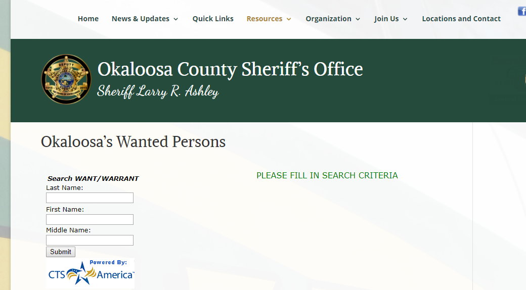 Okaloosa County Warrants