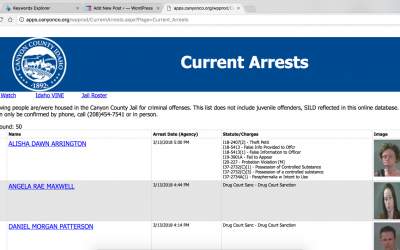 Canyon County Jail Roster