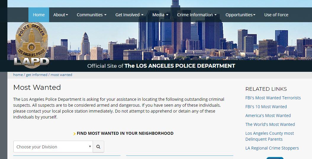 Los Angeles Warrants