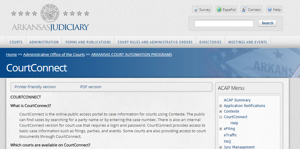 Arkansas Court Records