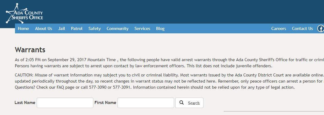Ada County Warrants