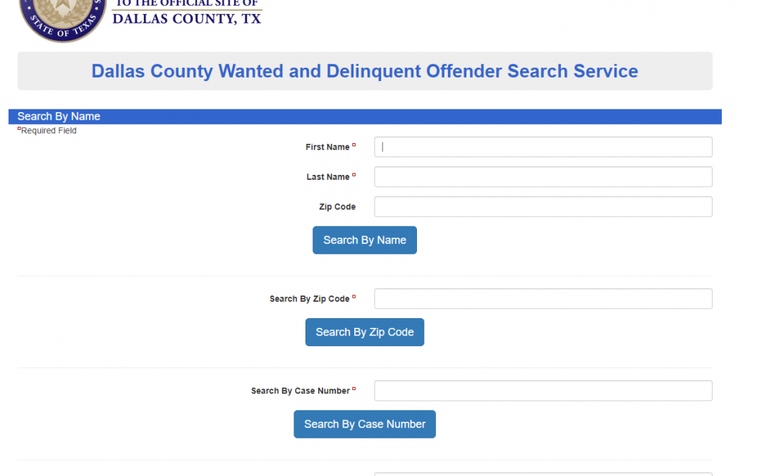 check for warrants in dallas texas