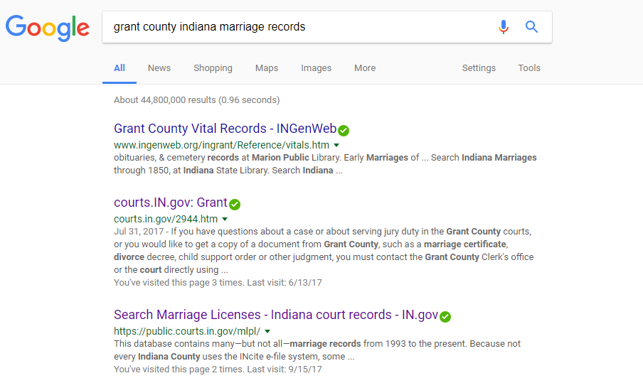 grant county marriage records