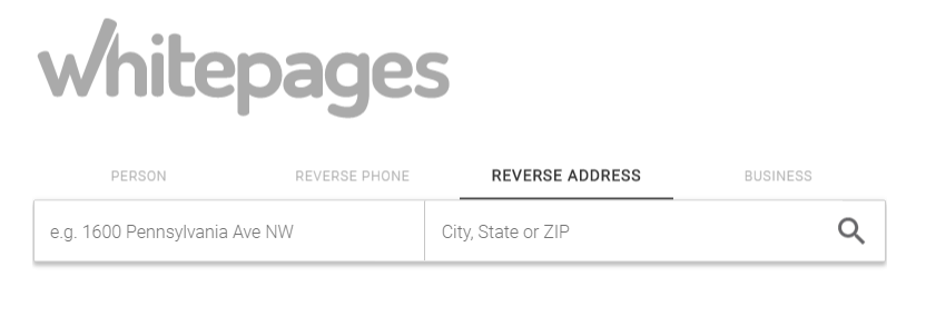whitepages reverse address