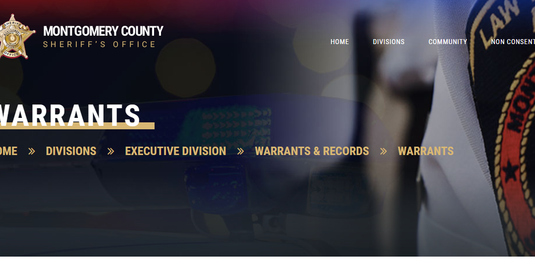 Montgomery County Warrant Search