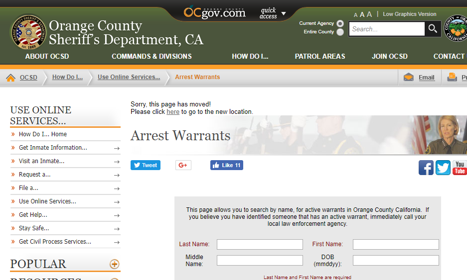 Orange County Warrants