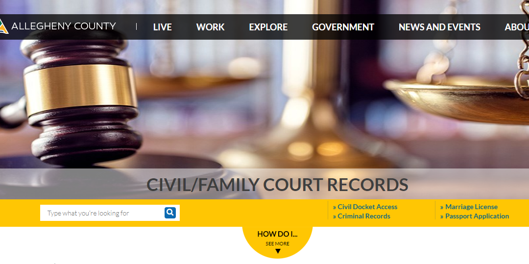 Allegheny County Court Records - Lookup Civil, Criminal