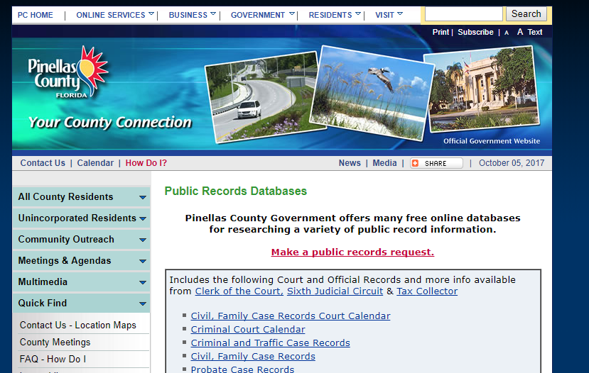 Pinellas County Public Records