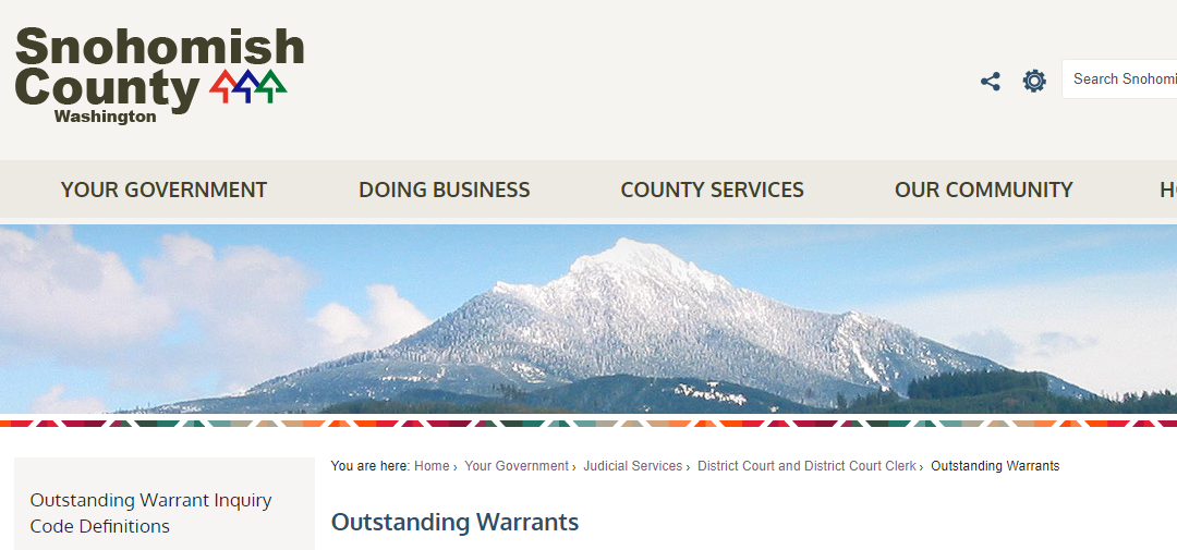 Snohomish County Warrants