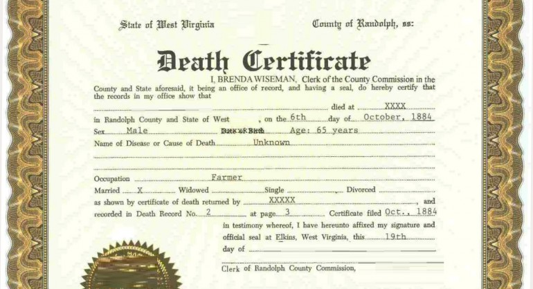 are death certificates public record? |