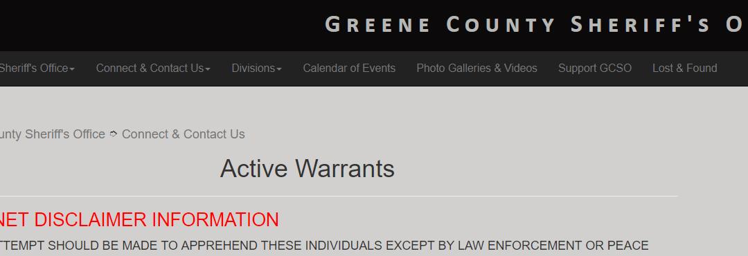 Greene County Warrants - Who's Wanted in Greene County