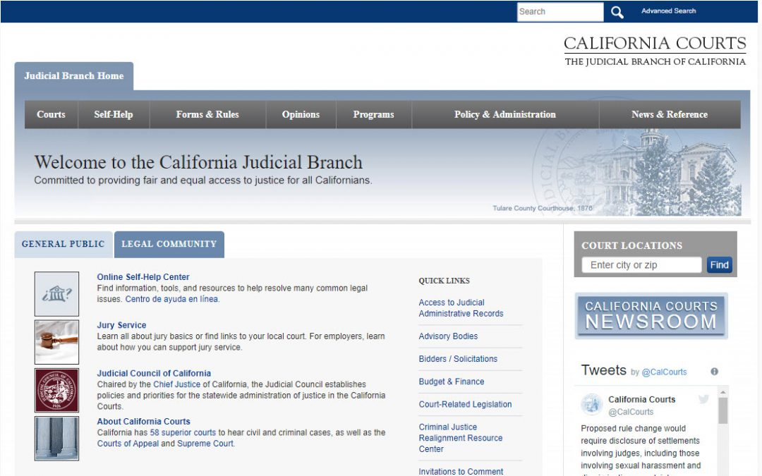 California Court Records