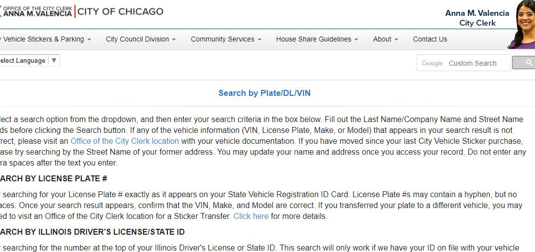 Cook County License Plate Search
