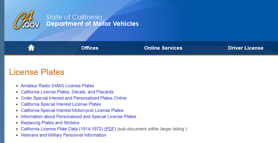 Los Angeles License Plate Lookup