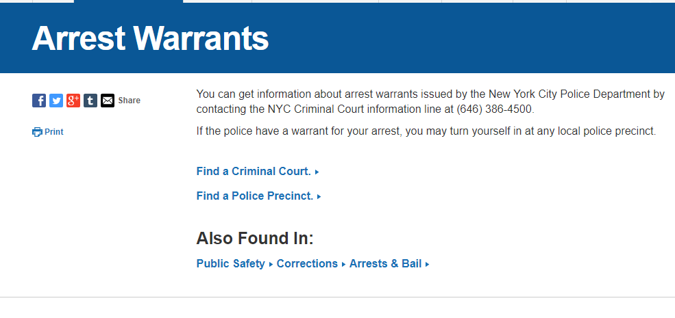 Queens New York Warrants