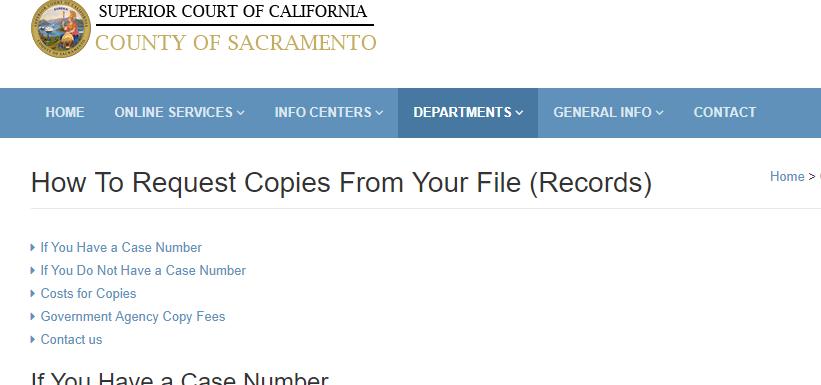 Sacramento County California Criminal Records