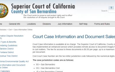 San Bernardino County California Criminal Records