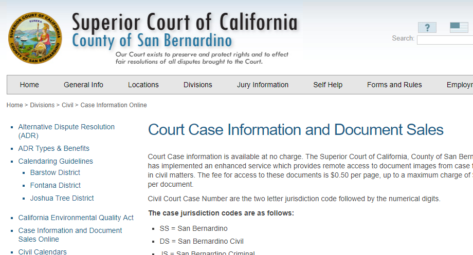 San Bernardino County California Criminal Records
