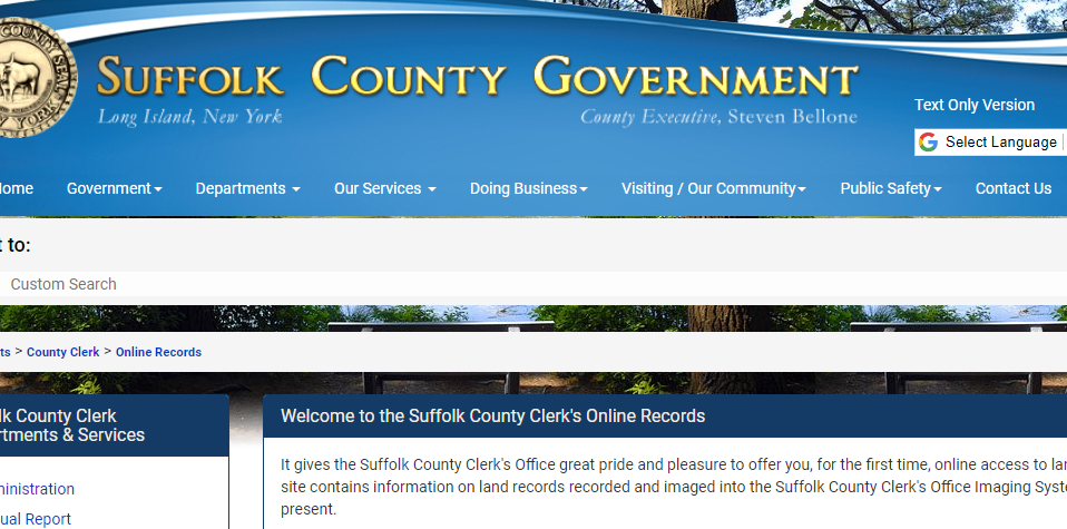 Suffolk County New York Criminal Records