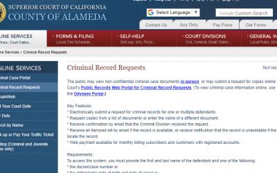 Alameda County California Criminal Records