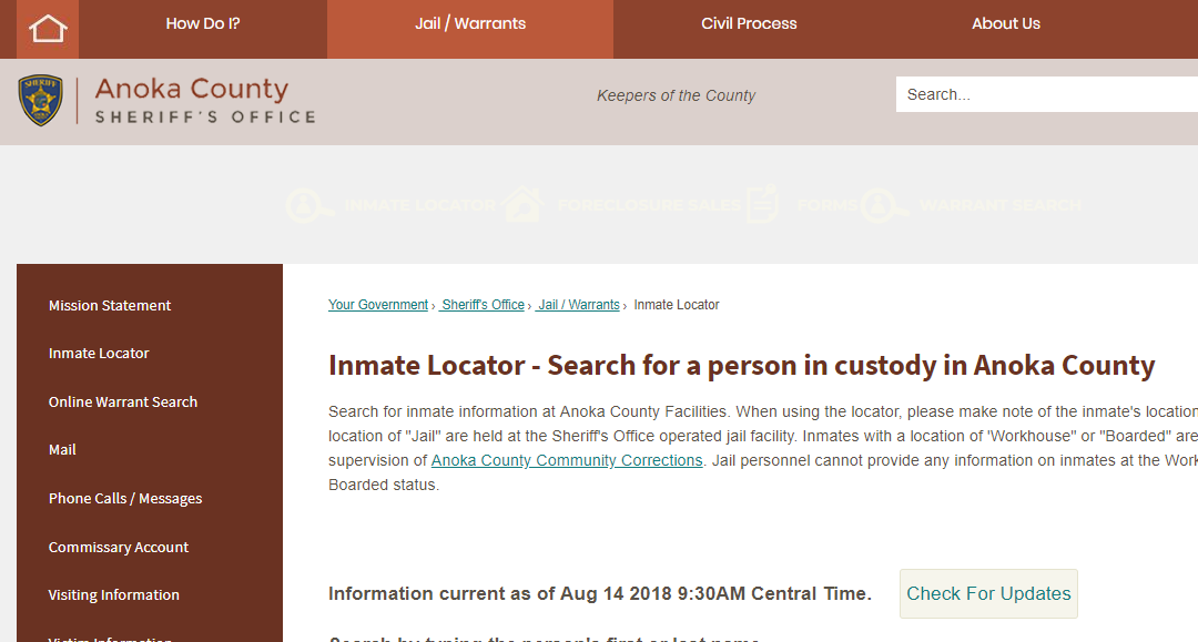Anoka County Jail Roster