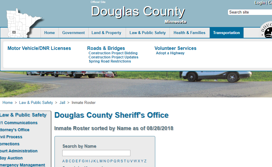 Douglas County Jail Roster
