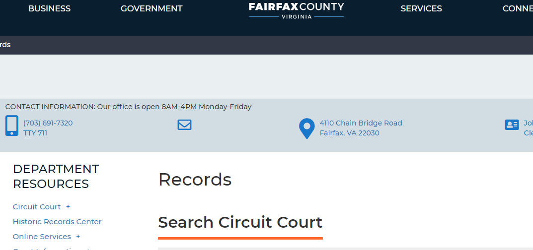 Fairfax County Virginia Criminal Records