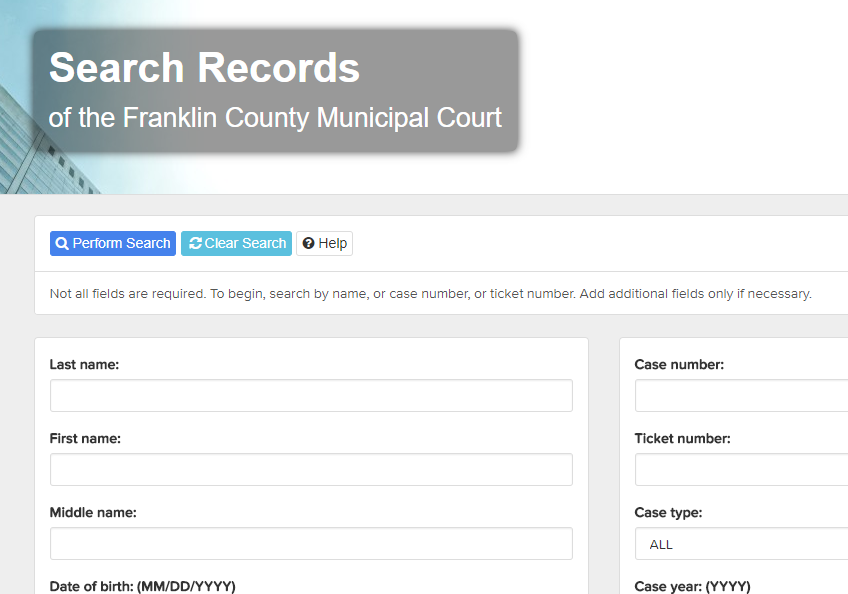 Franklin County Ohio Criminal Records