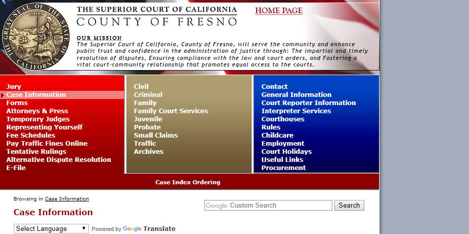 Fresno County California Criminal Records