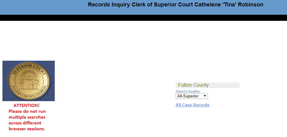 Fulton County Georgia Criminal Records