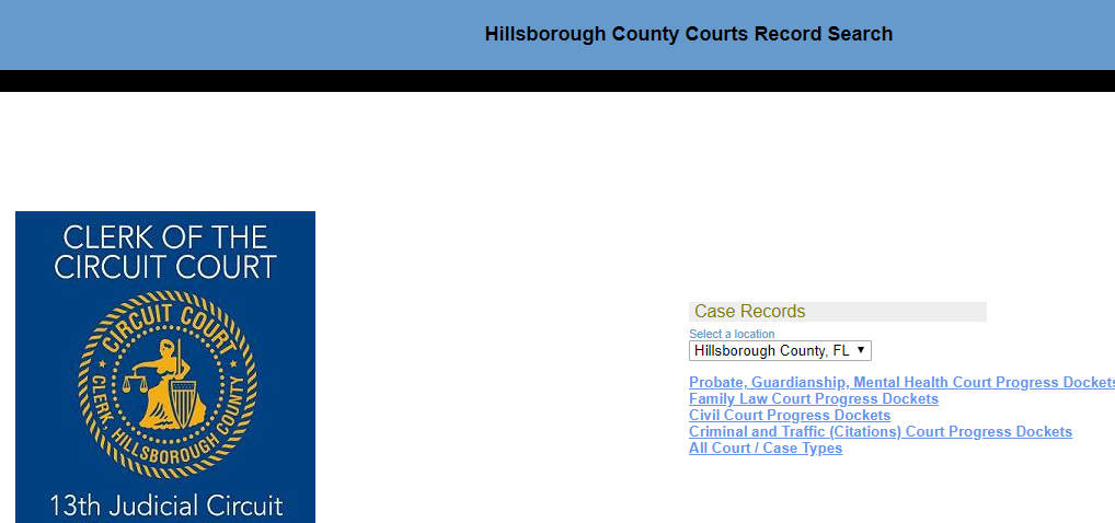 Hillsborough County Florida Criminal Records Court Cases Inmates
