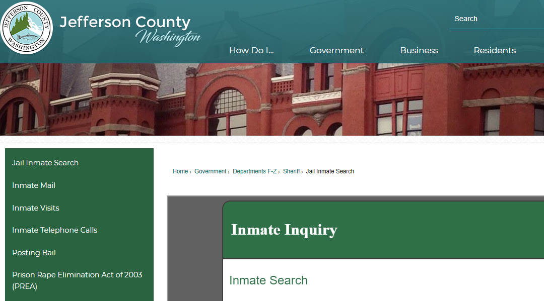 Jefferson County Jail Roster
