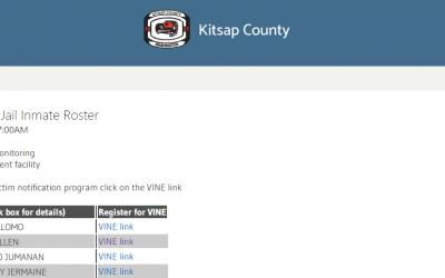 Kitsap County Jail Roster