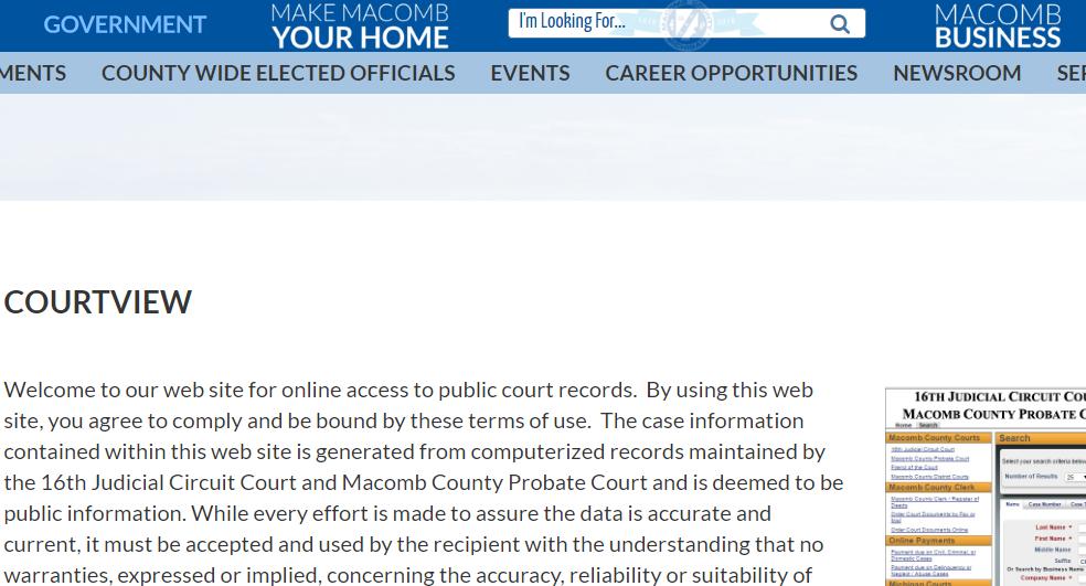 Macomb County Michigan Criminal Records
