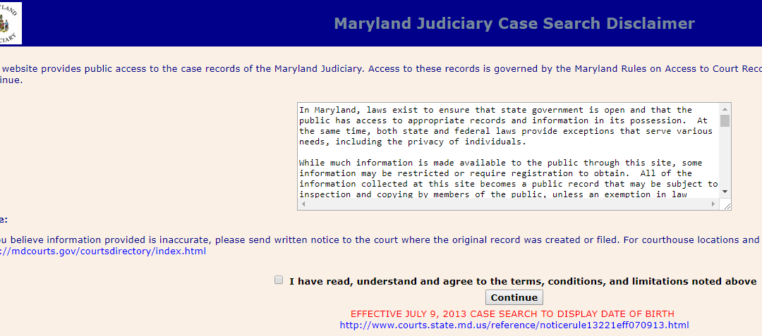 Montgomery County Maryland Criminal Records - Arrests, Court